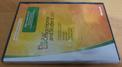 MICROSOFT OFFICE HOME AND STUDENT 2007 EDITION for PC NEW & SEALED