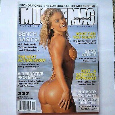 Musclemag Bodybuilding Magazine Tina Rigdon on cover April 2001
