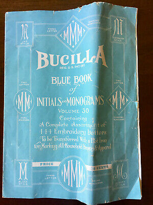 Bucilla Blue Book of Initials and Monograms Volume 30 Letter M