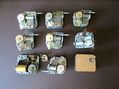 9 Vintage Cuckoo Clock, Music box Movements 7 Working 2 for Parts (501G)