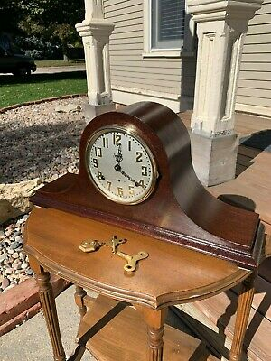 Restored Antique Pre WWII 1927 Chiming Sessions Westminster #1 Mantel Clock Gold