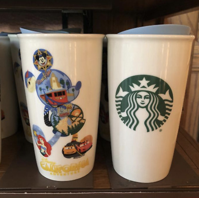 NEW Disney Disneyland California Adventure Starbucks 2016 2017 Mickey Tumbler