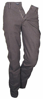 Trousers Casual Sports Man Grey Il Granchio Size 46 Slim Cotton Blend