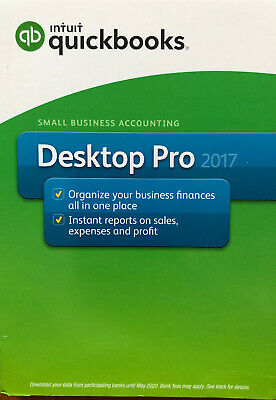 Intuit QuickBooks Pro Small Business 2017 Full Us Retail Version (PC DISC)