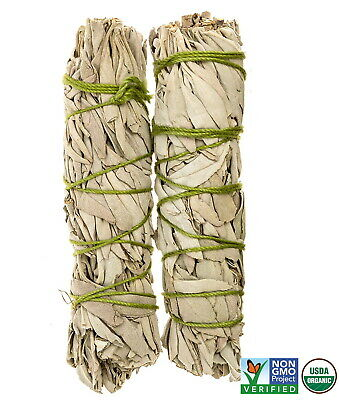 White Sage Cali Smudge Sticks SET OF 2 (Sage Bundle,House Cleansing) Made in USA