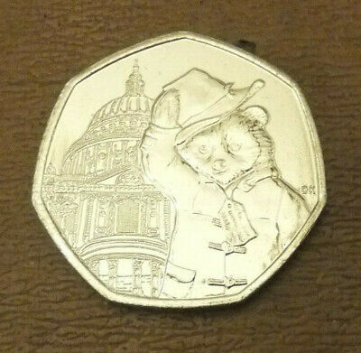 2019 Uncirculated Paddington Bear St Pauls Cathedral 50P Coin From Sealed Bag