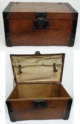 Trunk Small Travel Antique Wood '800 Period Traveling in the Leisure Torino