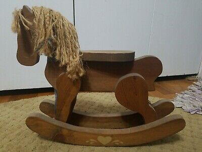 "Wooden Rocking Horse For an 18"" Or Larger Doll"