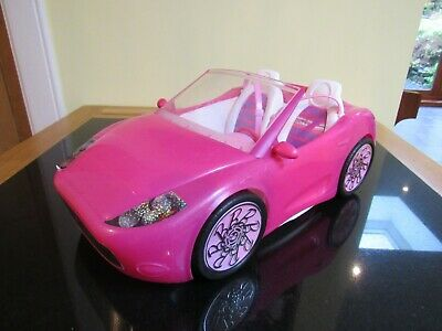 Barbie Glam convertible pink sports car - Good condition - Mattel 2010