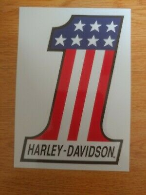 """BRAND NEW Harley Davidson American Flag Number One #1 Decal Sticker 5.75"""" x 4"""""""