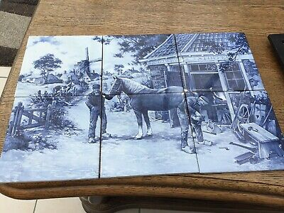 Royal Mosa Holland Tile Scene Country