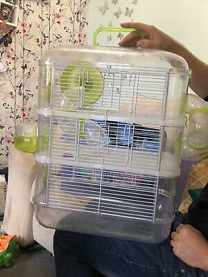 Plastic Large Hamster Cage With Tubes