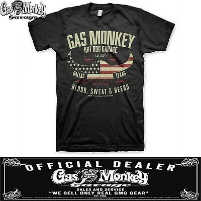 Noir Blood Sweat and Beers Homme T-Shirt Gas Monkey Garage