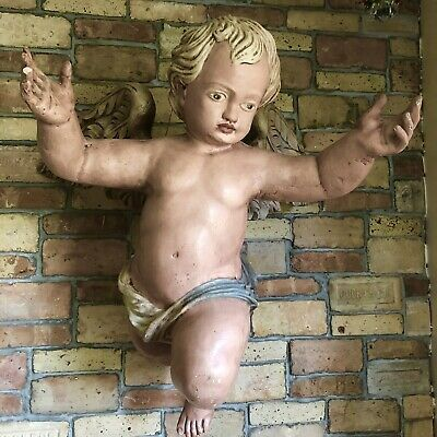 Antique Large Cherub Putti  From Church In Rome. Gregor Earhart?