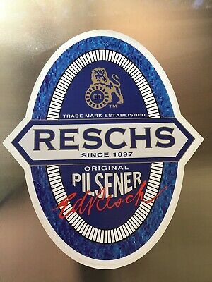 Old Large Reschs Beer Sticker