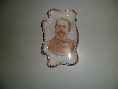 1896 McKinley Hobart Vice President Tip Tray Dish Rare Hobart Political Election