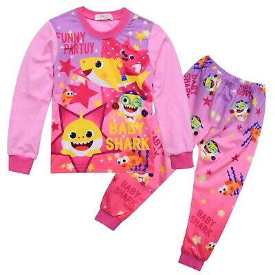 BABY SHARK Girls long sleeve pjyama set pjs pyjamas size 1-6 au stock xmas