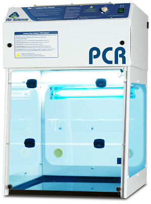 "PCR Workstation- 24"" / 610mm Wide Flow Hood, New with HEPA Filter"