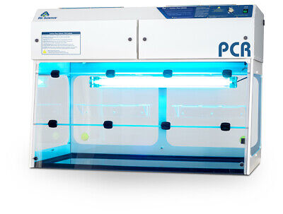 "PCR Workstation- 48"" / 1200mm Wide Flow Hood, New with HEPA Filter"