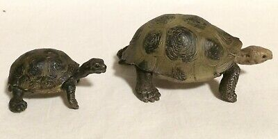 Schleich GIANT TORTOISE & YOUNG Baby Turtle Animal Figures Wildlife Retired