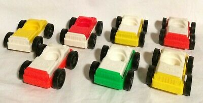Fisher Price Little People Lot of 7 Parking Ramp Garage Cars # 930/2504