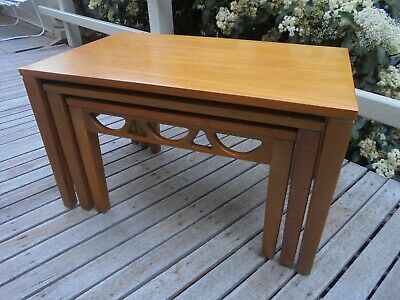 Mid Century Retro Danish Style Avalon Furniture Nest Of Coffee Tables