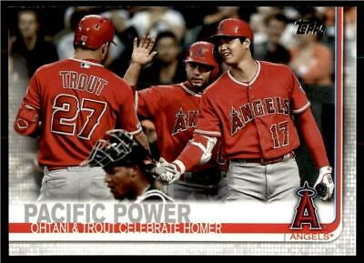 2019 Topps Update Base #US189 Mike Trout & Shohei Ohtani - Angels Combo
