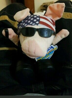 Just For Laughs Hog wild Pig American Biker Stuffed Toy