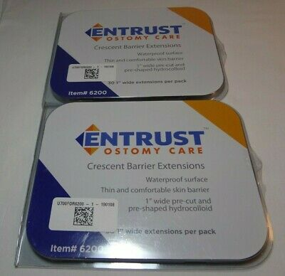 60 Entrust Ostomy Care Crescent Waterproof Skin Barrier Extensions