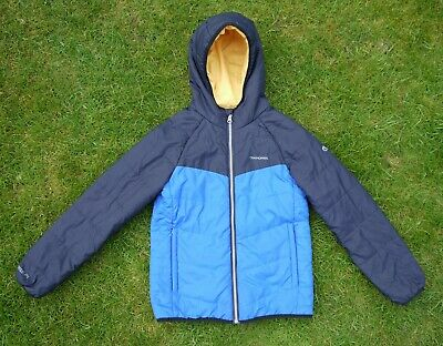 Boys CRAGHOPPERS Compresslite Insulated Hooded JACKET. Age 9-10 Years. Blue.
