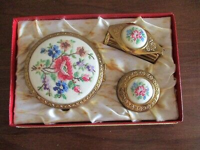 Jewelcrest  Vintage Vanity Set Compact, Lipstick & Rouge Unused