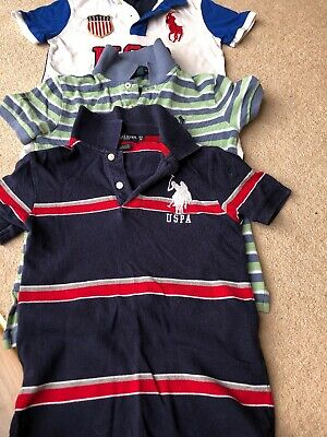 Kids Polo Ralph Lauren and US Polo Association shirts aged 6. 3 polos in total