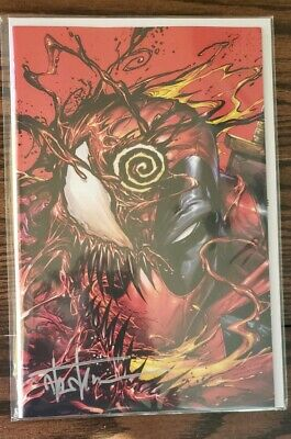 🔥👺Absolute Carnage vs deadpool #1, NYCC variant, signed by Tyler Kirkham
