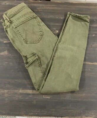Mother Denim The Charmer Cargo Pants Size 26 The First Move Olive