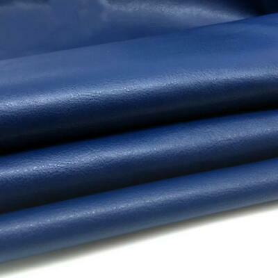 Heavy Feel Faux Leather Leatherette Vinyl Pvc Upholstery Material Fabric Blue