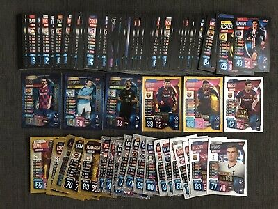 Match Attax Cards 19/20 Lot Bundle inc Messi 101 100 Club Holos Shiny 2019/2020