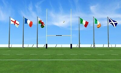 RFU Rugby 6 Nations Flags Pack Ireland Scotland Wales France Italy England