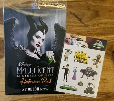 Odeon Maleficent Mistress Of Evil Halloween Pack + free Shaun the Sheep stickers