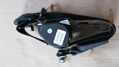 Bmw X5 E70 06-13 Rear Passenger Side Left Middle Seat Belt In Black 606345601C