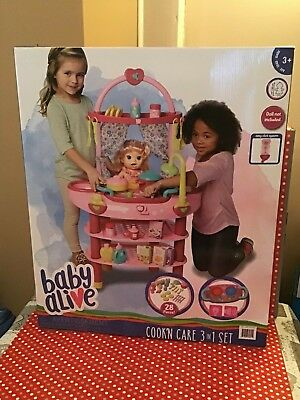 Baby Alive Cook 'N' Care 3in1 Set + 28 Accessories(3+ Years)*FREE&FAST DELIVERY*