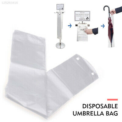 70CD 100pcs Disposable Umbrella Bag Rain Day Doorway Convenient Disposable Bag