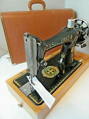 Antique Singer 66K Sewing Machine. 1917 Lotus Flowers! Serviced & Ready To Go!