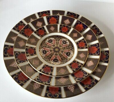 Royal Crown Derby 1128 Old Imari Graduated Plates 16, 22, 27 cm First Quality
