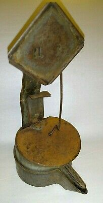 Antique Hand Forged Cruise Double Pan Betty Whale Oil Grease Lamp