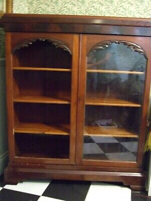 Victorian mahogany double door bookcase.