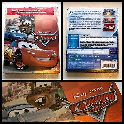 Disney Pixar Cars 1 2006 Blu-ray + DVD + Bonus Steelbook Limited Edition FNAC
