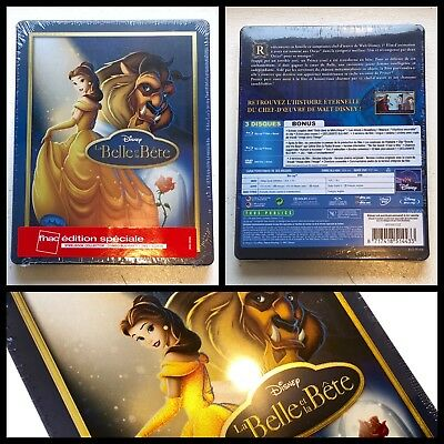 Disney Beauty and Beast 1991 Blu-ray + DVD +Bonus Steelbook Limited Edition FNAC