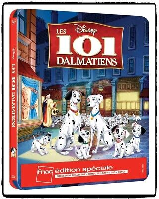 Disney 101 Dalmatians 1961 Blu-ray + DVD + Bonus Steelbook Limited Edition FNAC