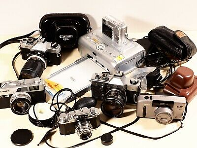 35mm Film Camera & Lens Bundle; Fujica, Canon, Kodak,