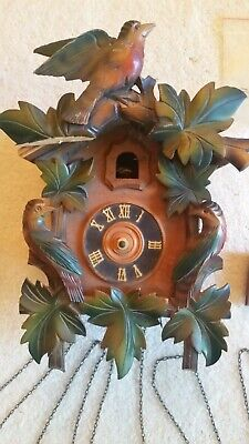 Antique West Germany Black Forest Cuckoo Clock For Parts or Repair
